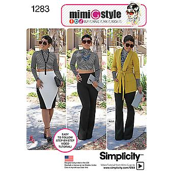 SIMPLICITY MISSES SPORTSWEAR-6-8-10-12-14 US1283H5