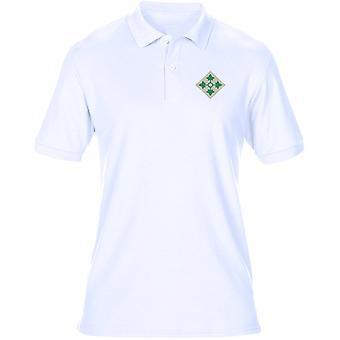 US-Armee 4. US-Infanteriedivision Logo - Stickerei Herren Polo-Shirt