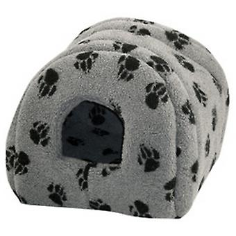 Danish Design Pet Products Fleece Paw Print Igloo Bed