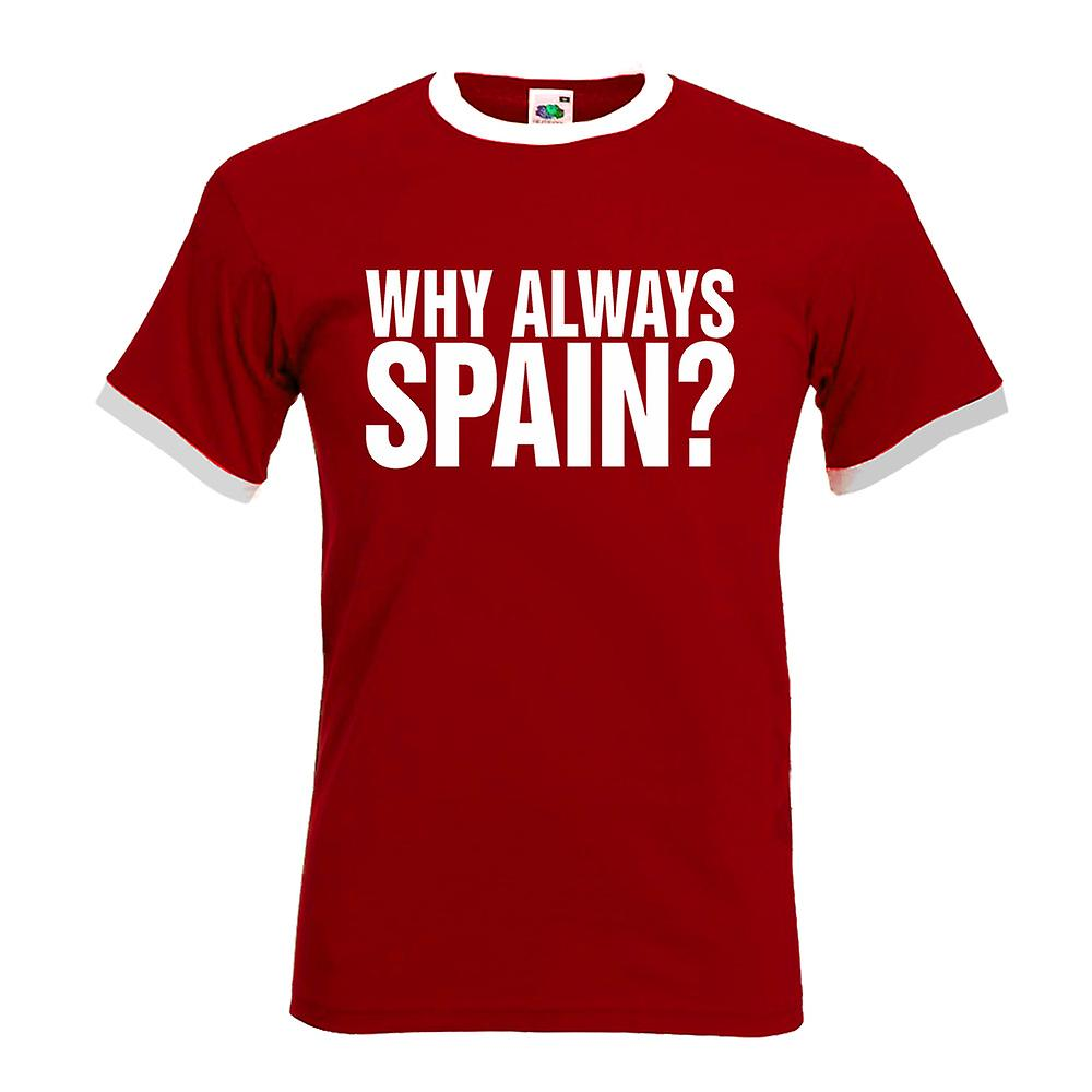 Why Always Spain Football T-Shirt (Red)
