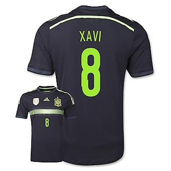 2014-15 Spanien Auswärts WM-Shirts aus Biobaumwolle (Xavi 8) - Kids