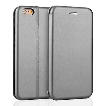 Yousave Accessories Iphone 6 And 6s Leather Effect Stand Wallet - Grey