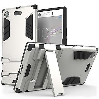 Sony Xperia XZ1 kompakte Kickstand Case - Silber