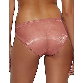 Gossard 6273 Women's Glossies Dusty Rose Pink Knickers Panty Full Brief