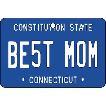 Connecticut - Best Mom License Plate Car Air Freshener