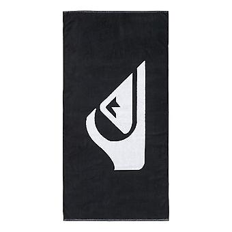Toalla Quiksilver tejido logotipo playa - negro