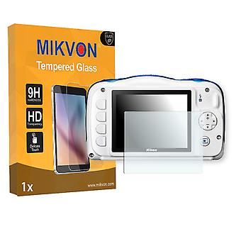 Nikon COOLPIX W100 Screen Protector - Mikvon flexible Tempered Glass 9H (Retail Package with accessories)