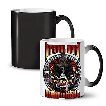 Infernal Beast NEW Black Colour Changing Tea Coffee Ceramic Mug 11 oz   Wellcoda