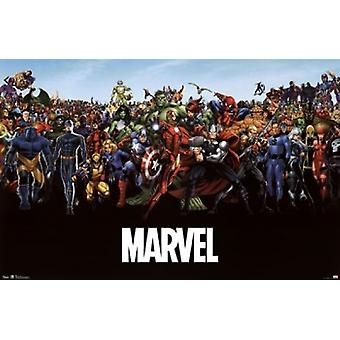 Marvel - The Lineup Poster Print