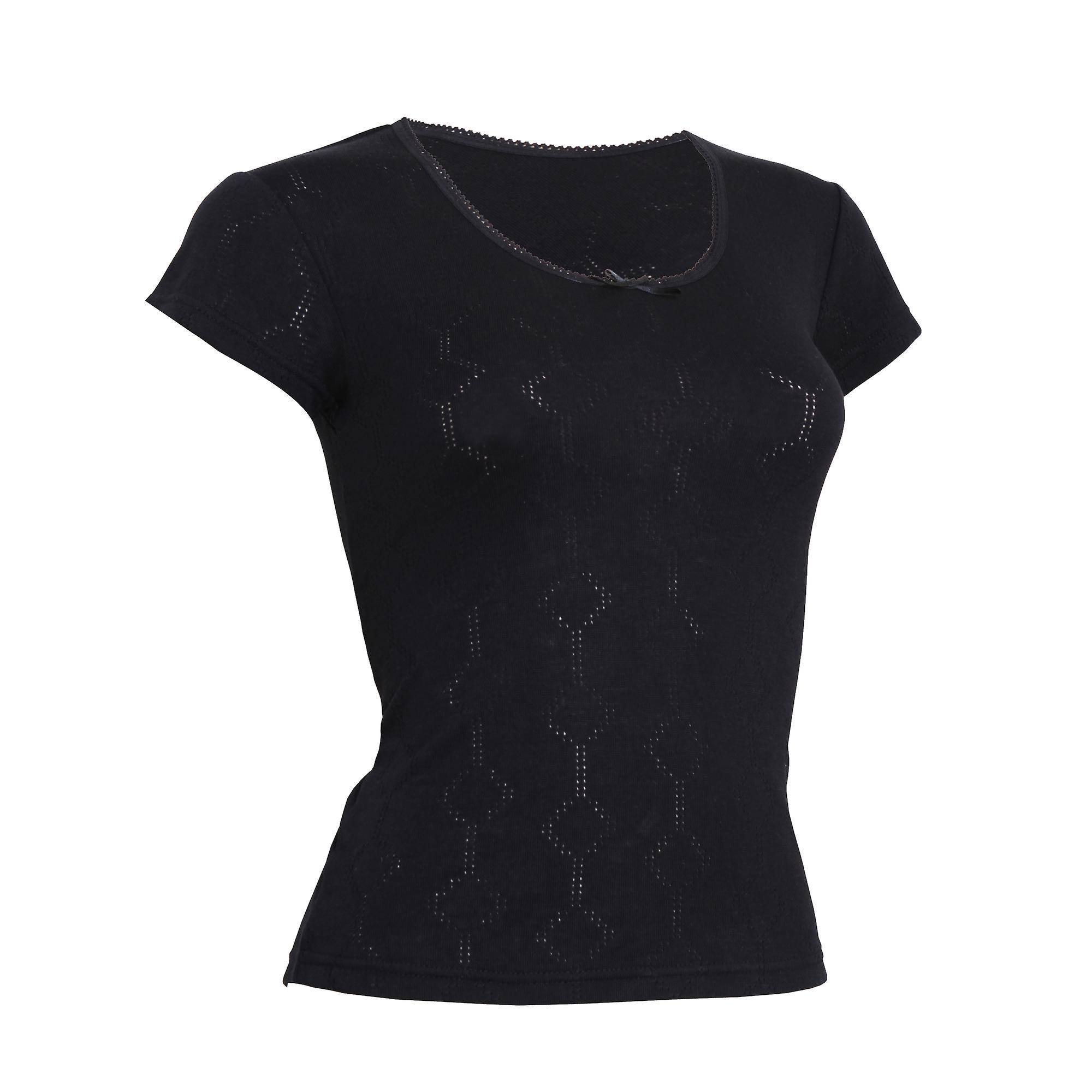 FLOSO Damen/Damen Thermo-Unterwäsche Kurzarm T-Shirt (Viskose-Premium-Reihe)