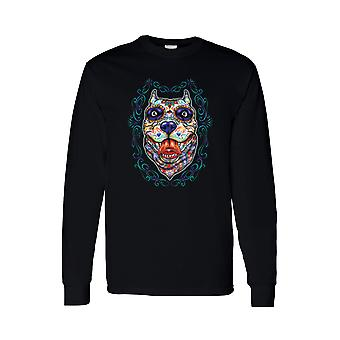 Men's Long Sleeve Shirt Psychedelic Dog