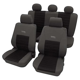 Sports Style Grey & Black Seat Cover set For Fiat Panda Van 1990-2018