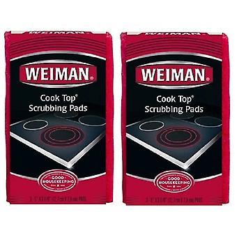 2 パック Weiman クック トップ スクラブ パッドします。