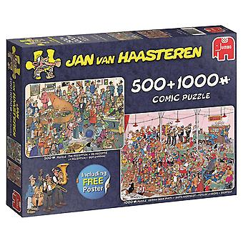 Jan Van Haasteren Let's Party! 2-in-1-legpuzzels (500 stuks & 1000 stuks)