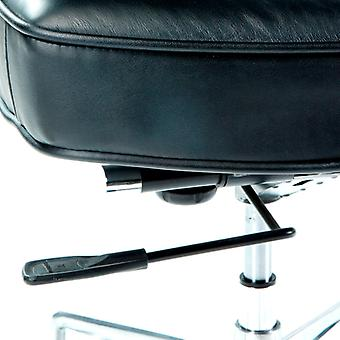 Wellindal Adjustable Chair 64x60x93 and 99 Metal and Black Leather