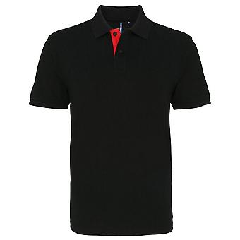 Asquith & Fox Mens Classic Fit - Contrast Polo Shirt