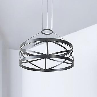Leds-c4 Train Round Non Dimmable 29.8W LED Pendant In Black