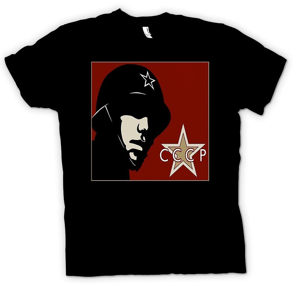 Womens T-shirt - CCCP Russian - Propaganda Poster
