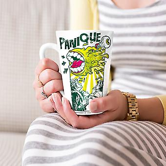 Panique Monster Fashion NEW White Tea Coffee Ceramic Latte Mug 17 oz | Wellcoda