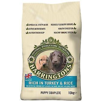 Harringtons hvalp mad tørre Mix komplet rige i Tyrkiet og ris 10 Kg