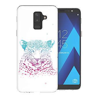 Samsung A6 Plus (2018) Leopard Splash TPU Gel geval