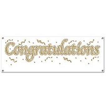 Grattis Banner tomt tecken