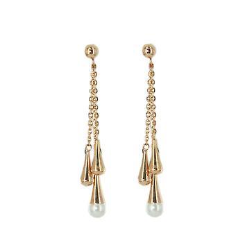 Skagen women's earrings Pearl rose gold JESR032