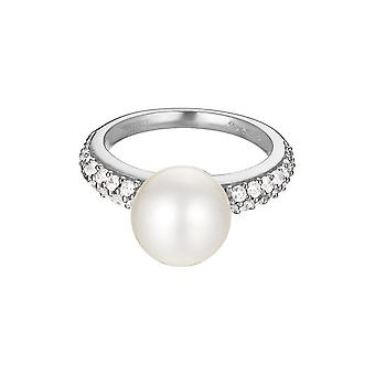 ESPRIT women's ring silver zirconia Pearl sphere ESRG92300A1