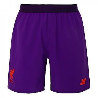 2018-2019 Liverpool lejos Shorts (púrpura) - niños