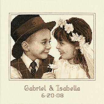 First Love Wedding Record Counted Cross Stitch Kit-11