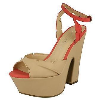 Damen vor Ort auf hohe Keil Sandale / Knöchel Stap / Ausschneiden