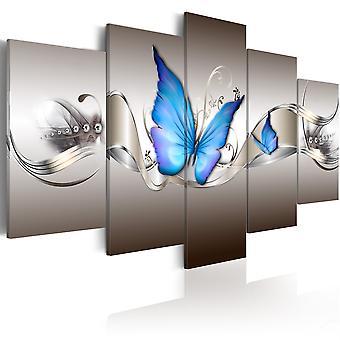 Canvas Print - blauwe vlinders