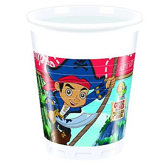 Captain Jake Neverland Pirate Party cups cups 200ml 8 piece children birthday theme party