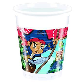 Captain Jake Nimmerland Piraten Party Becher Trinkbecher 200ml 8 Stück Kindergeburtstag Mottoparty