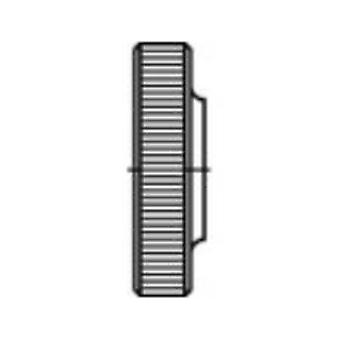 TOOLCRAFT 107582 Knurled nuts M4 DIN 467 Steel 100 pc(s)