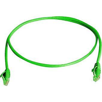 Telegärtner RJ45 Networks Cable CAT 6 U/UTP 0.5 m Green Flame-retardant, Halogen-free