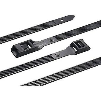 HellermannTyton 112-27560 RPE275-HSW-BK-C1 Cable tie 275 mm Black Heavy duty, UV-proof, Heat-resistant, Releasable 1 pc(s)