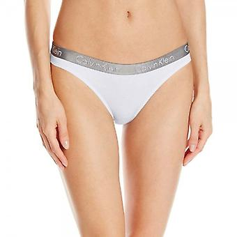 Calvin Klein Women Radiant Thong, White, Small