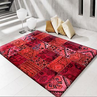 Rugs - Modern Persian Patchwork Red