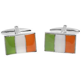 Zennor Irish Flag Cufflinks - Green/Orange/White