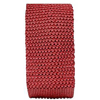 KJ Beckett Silk Knitted Tie - Mauve