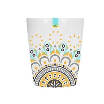 Orange Patterned Melamine Abstract Summer - Tumbler 70 x 84mm Camping Kitchen