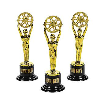 Movie Buff Gold Oscar Style Award Trophy for Party Bags   Kids Party Games