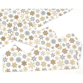 Gold & Silver Snowflake Adjustable Paper Hats for Crackers - 10 or 25 Pack