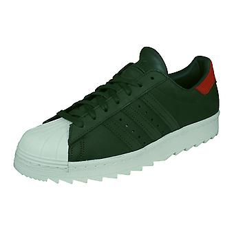 adidas Originals Superstar 80s TR Mens Leather Trainers / Shoes - Green