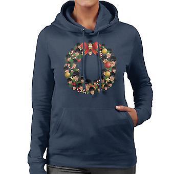 Kerst krans Multi Cardi B Women's Hooded Sweatshirt