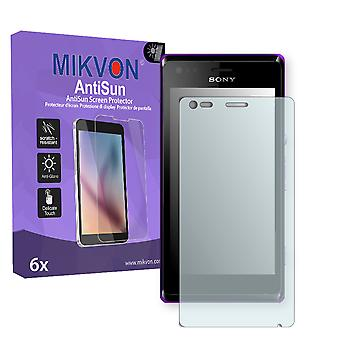 Sony Xperia C2005 Screen Protector - Mikvon AntiSun (Retail Package with accessories)