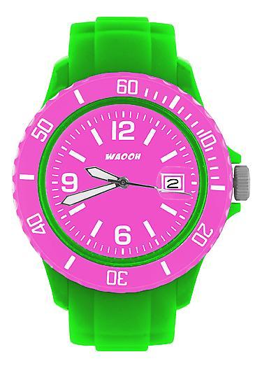 Waooh - toont MONACO38 groene wijzerplaat & omlijsting kleur