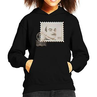 Poirot Stamp Vintage Detective Kid's Hooded Sweatshirt