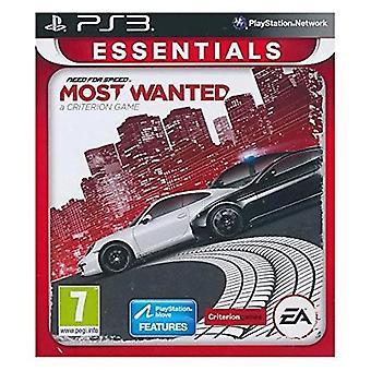 Behoefte aan snelheid Most Wanted 2012 Essentials PS3 spel